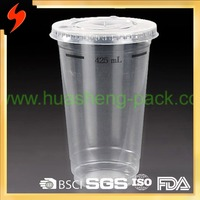 KFC Supplier 500ml PP disposable plastic milk tea cups