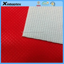 3 layers breathable emboss interlock laminated fabric for garment
