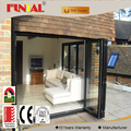 Hot sale aluminum profile double tempered glass folding door