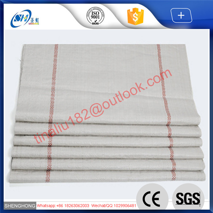 China eco-friendly recycling white color plastic woven bag with cheap price