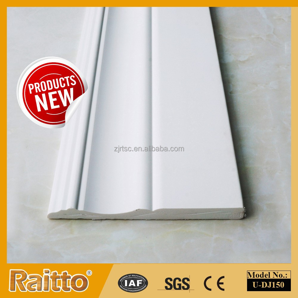 Raitto PVC Universal Profiles Skirting Board Plastic Waist Line PVC Door Frame Covering