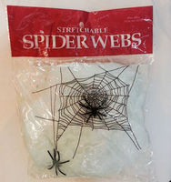 Party Halloween broom white spider web HAL-0040