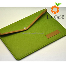 Leather & Wool Felt Sleeve Bag Pouch Case Cover for Kindle Oasis
