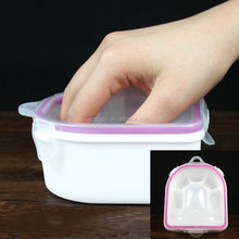 Warm Water Sterilizer Soak Double Bowl finger shape Nail Art remover nail polish remove Acrylic Tips Manicure Spa tools