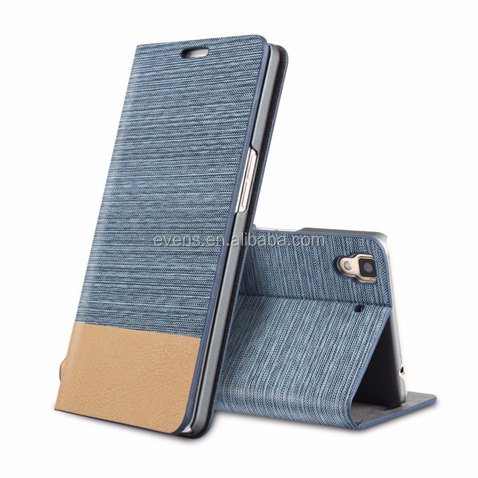 Card Holder Slot Mobile Canvas Flip Leather Book Folio Phone Case For Wiko Darknight