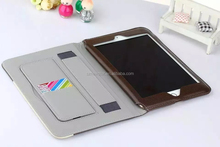 For iPad mini 4 Leather Case with Stand and Credit Card Holder