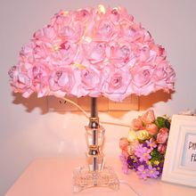 Wedding table lamp bedroom bedside lamp creative wedding gifts European Rose crystal light