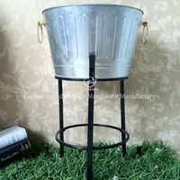 garden metal galvanized large party tub cooler