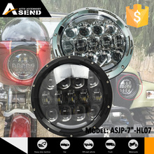 105W super bright 7inch LED round projector off-road headlight for jeep with angel eye
