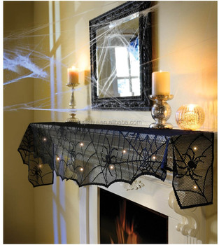 holiday midnight Lighted lace mantle scarfs