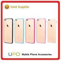 [UPO] Alibaba supplier Transparent TPU PC Plastic Hard back mobile phone Cover Case for iPhone 6 6s