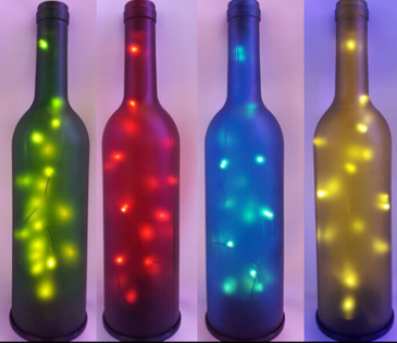 Gift choice decorative LED string solar wine bottle light