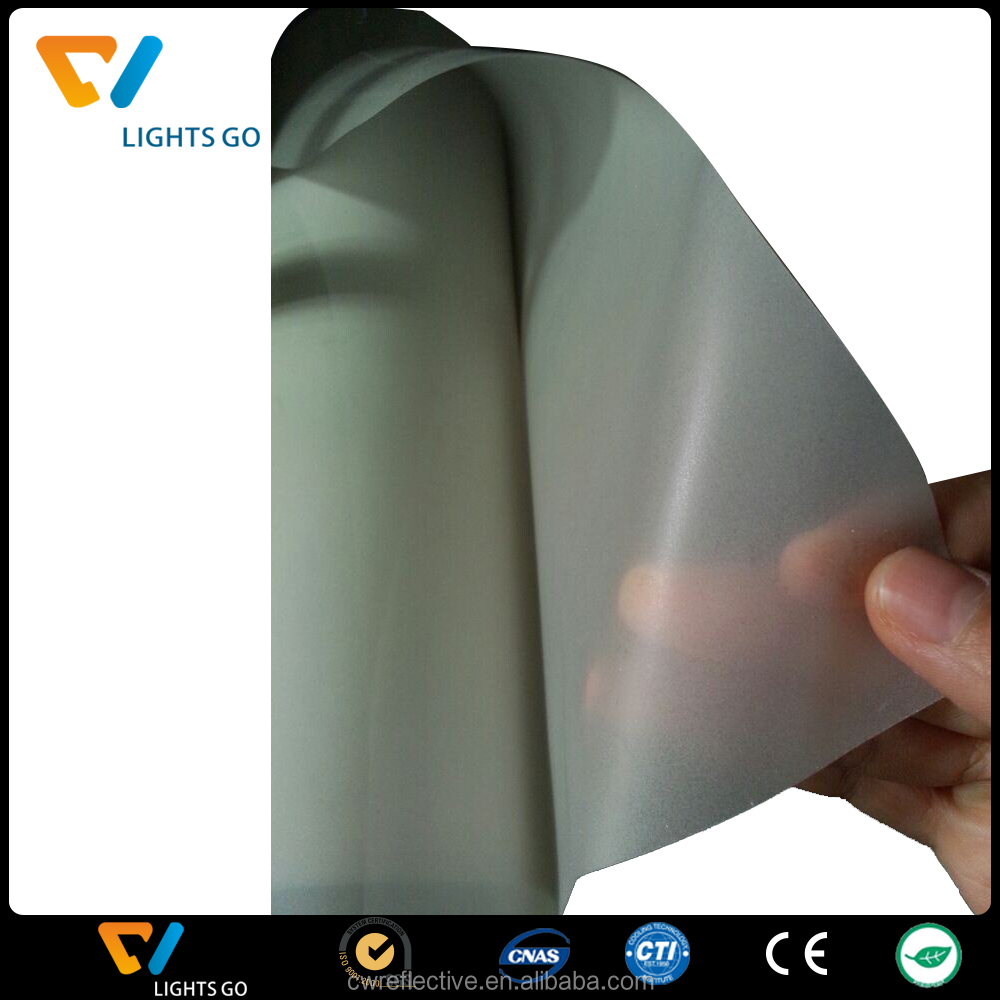 manufacture for silver silk screen printing hot melt glue backside reflective film for logo