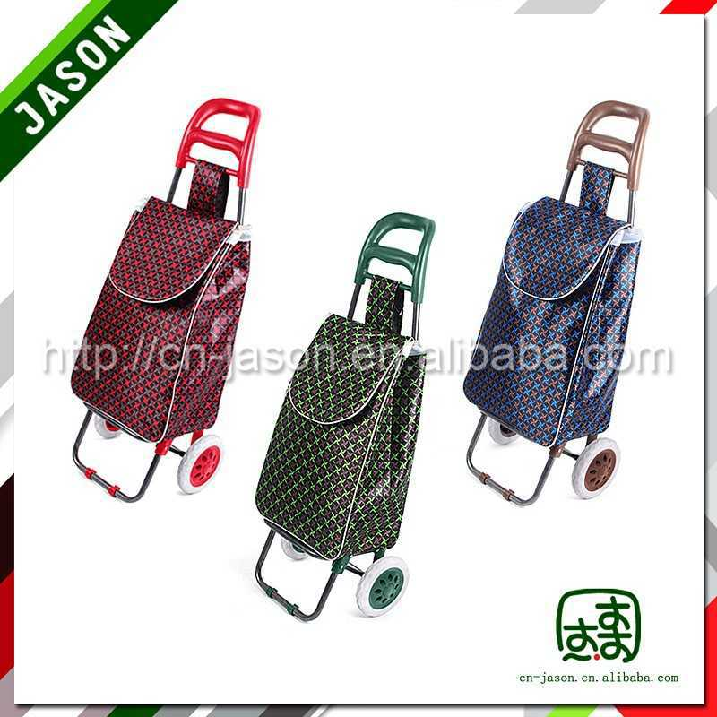 foldable luggage cart utility plastic shopping trolies