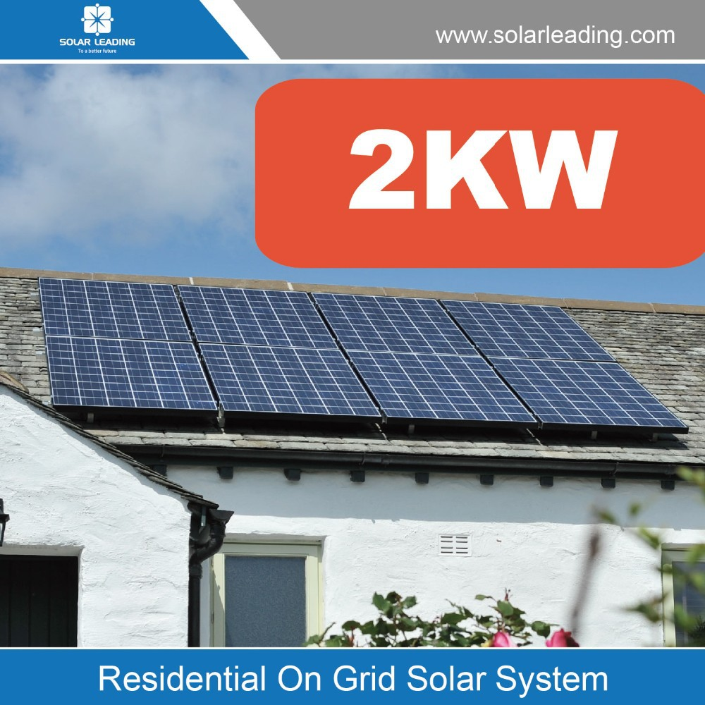 Sloped Roof Mounted Residential Solar System 2kw Solar