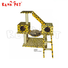 Hot sale customized wholesale yellow pet product pet accessory cat toy cat tree