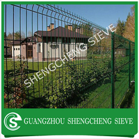 Export Nepal plastic coated v wire mesh fence panel/ wire mesh netting fence