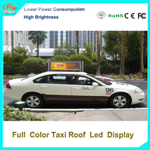 RGX Wireless control taxi roof led display p5 P6 led sign