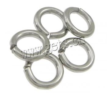 689984 316 Donut shape Machine Cut Stainless Steel Closed Jump Ring 10mm