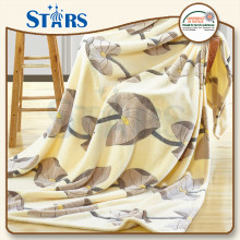 GS-CFBP016 hot sale color polyester heavy fleece large knitted blanket