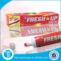 Fresh up toothpaste maxam fluoride toothpaste Factory