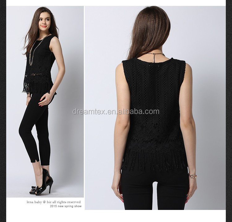 Hot sale women beautiful lace tank top elegant women tank tops wholesale
