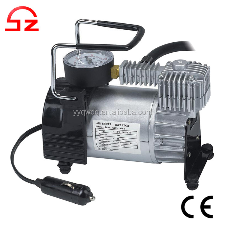 Hiqh quality portable 12v car mini compressor air pump