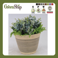 Cheap Wooden Flower Pots For Garden Decor