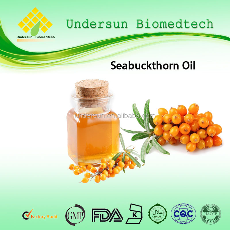 bulk seabuckthorn fruit oils with alibaba GMP certified chinese factory supply essential oil