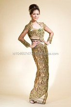 Indonesia Wedding Kebaya Modern Dress 2015 Brown