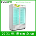 vertical glass door convenience store beverage display showcase