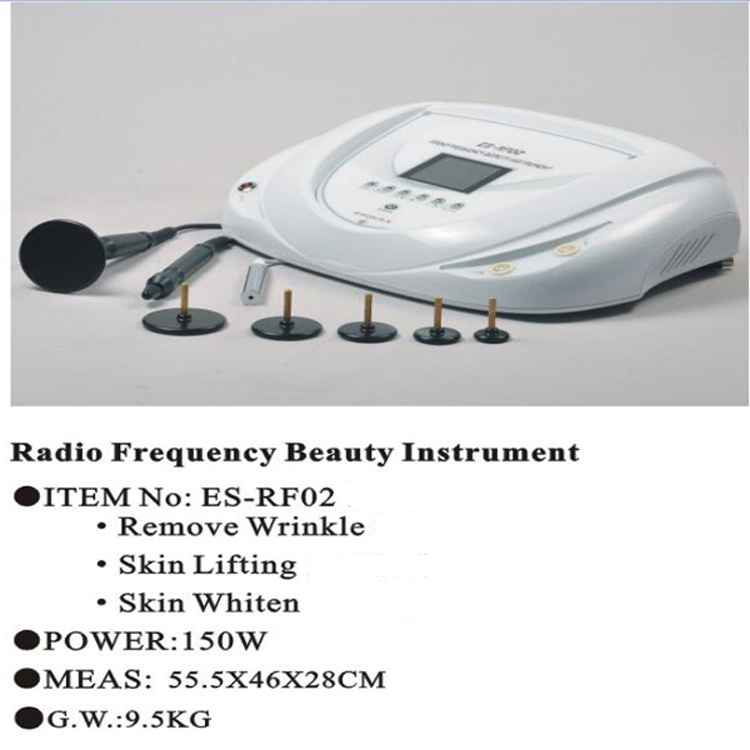 Radio frequency beauty instrument for remove wrinkle