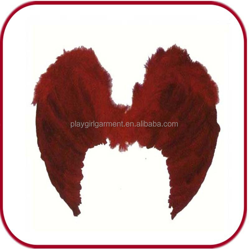 wholesale red large feather angel wings for sale PGAC-0373