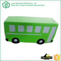 2016 Wholesale bus shape ball toy, PU mini Transportation