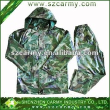 Nylon camouflage printing water-proof rainsuits