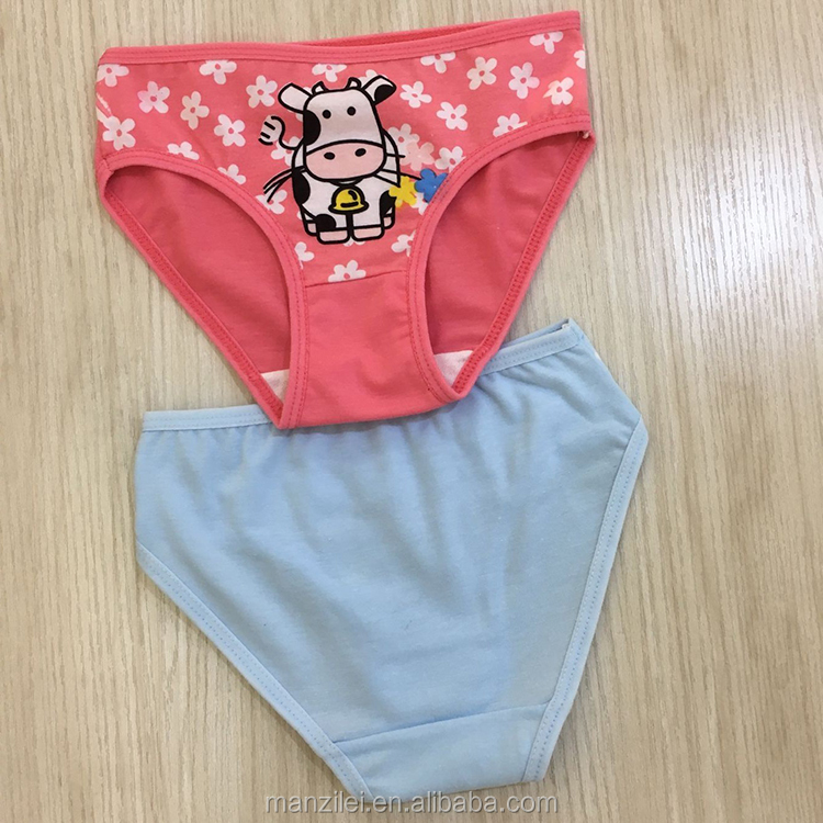 Lovely Mixed Color 7-10 Years Children Girls Panties Cartoon thermal underwear for children