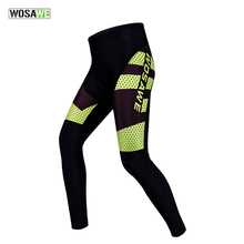 WOSAWE Cycling Tights Quick Dry Cycling Pants Bike Bicycle Long Pants Thin Trousers Hip Protective Pad <strong>Sportswear</strong>