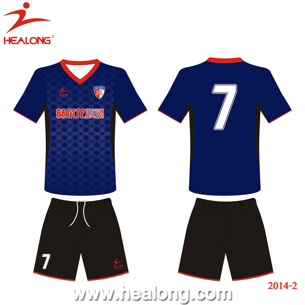 Healong sublimated printing make your own digital print Cheap Soccer Uniforms For Teams` personalized