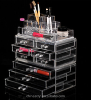 Makeup Cosmetics Clear Acrylic 9 Drawers Display and Jewelry Organizer
