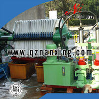 Small Sewage Treatment Plant Filter Press and Piston Pump