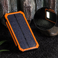 Handy solar power bank mobile charger with usb socket