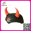 Funny Non woven fabric Christmas Hats Black happy new years party hat