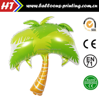 110X88CM Gaint Coconut tree shape balloon Foil Helium balloons.Hot Sale on Summer Paety Decoration