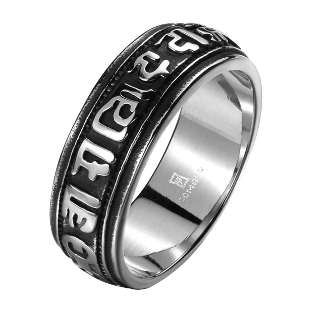 Tryme Brand New Mens Jewellery Biker Ring 316L Stainless Steel Jewelry Men Rings Mayan Simple Design Punk Vintage Rings for Man