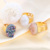 China wholesale flat oval gold plated adjustable engagement natural druzy geode agate rings jewelry women