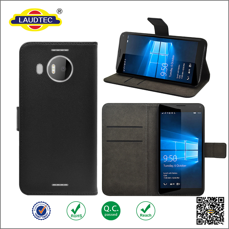 Leather phone case for Nokia lumia 950 XL with stand function