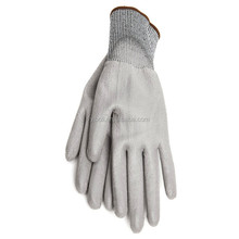 YIBOLI Manufacture New Style cut resistant all colour PU coated gloves/ anti cut gloves /cut 3