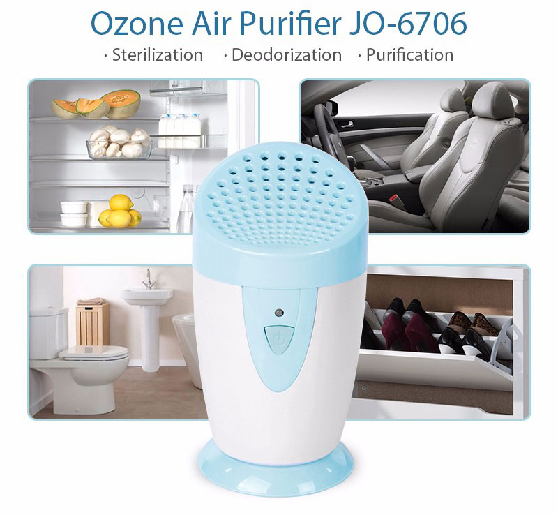 Ionkini Ozone Generator Air Purifier JO-6706 for Fridge, Car, Shoe Cabinets