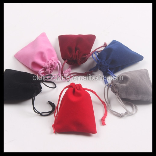 small quantity accept cheap velvet drawing pouch bag, jewelry pouch with printing, jute bag fabric pouch