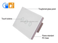 Touch Screen Light Control Wall Switch with Crystal Glass Panel JJ-US-03